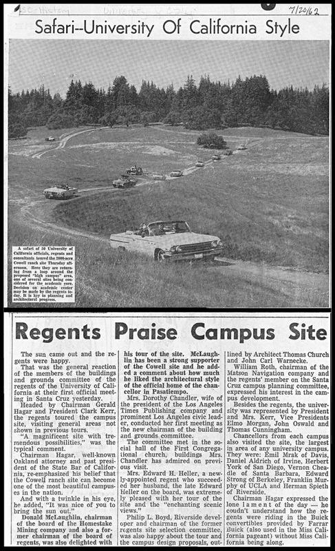 Front page, <em>Santa Cruz Sentinel</em>