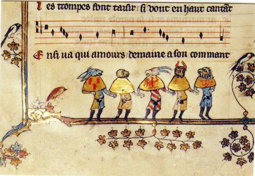 LUTTRELL PSALTER marginal illustrations