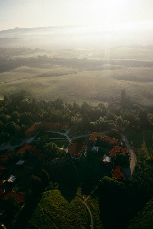 Oakes College, aerial view, September 1978