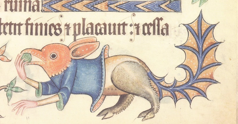 MARGINAL GROTESQUE FROM THE LUTTRELL PSALTER