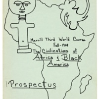 """Merrill College Third World course prospectus: """"Civilizations of Africa and Black America."""" Fall 1968."""