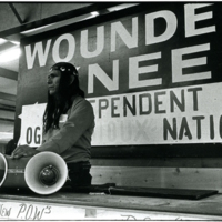 Dennis Banks, Wounded Knee Photograph (1973)