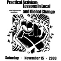 Cover of program for Practical Activism Conference, 2003