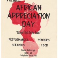 African Appreciation Day. Poster. 1996.