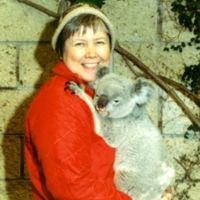 Langenheim on a research trip at the Queensland Nature Sanctuary for Koalas in  Australia