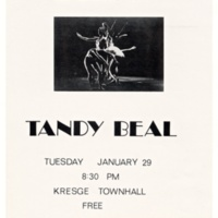 """An Evening with Tandy Beal."" Poster. Circa 1980s."