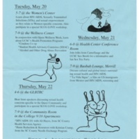 Safe Sex Health Awareness Week flyer with slugs. Circa 1980s.