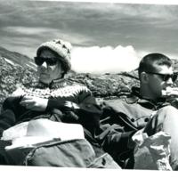 Langenheim on a research trip on Mount Washington while at Harvard University.