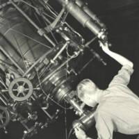 Gerald E. Kron at the 36-inch telescope. 1936.