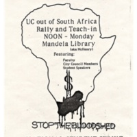 Anti-apartheid Protest Day 6. Flyer, April 1985.