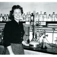 Langenheim in the Barghoorn Lab, Harvard Universtiy
