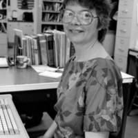 Kresge College: Betsy Wootten, supervisor, Services to Academic Staff. 1986.