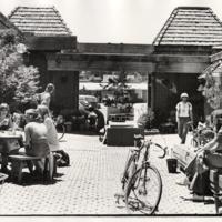 Courtyard behind Bookshop Santa Cruz, 1978