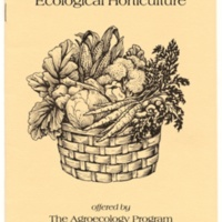 Apprenticeship in Ecological Agriculture. Brochure. Circa 1985.