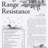 """Long Range Resistance."" Newsletter of anti-growth advocates. 2007."