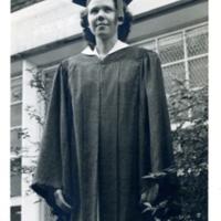 Jean Harmon graduating from Tulsa Central High school