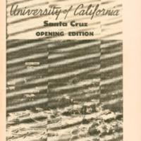 Santa Cruz Sentinel, October 14, 1965: University of California, Santa Cruz, Opening Edition [A: UC and UCSC Administrator Profiles; Planning and Construction]