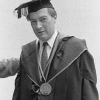 Inaugural of F.M. Glenn Willson, professor of politics, as provost of Stevenson College. 1967.