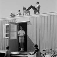 Pioneer Class: residents of Bitter End trailer. 1965.