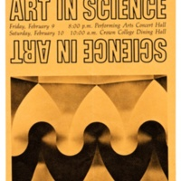 Crown College Art in Science Conference flyer. Circa 1990s.