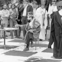 Cowell Culture Break: Cowell College human chess game. 1968.