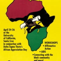 1992 African/Black Student Alliance Statewide Conference Poster.