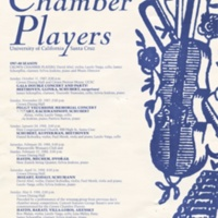 Crown College Chamber Players Poster. 1987-88 season