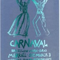 Carnival, Brazilian Mardi Gras Poster. Merrill Dining Hall