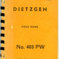 Langenheim's field notebook used while at the University of Illinois
