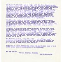 Women's Liberation Strike statement. UCSC. May 1971.