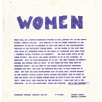 Statement on discrimination against women at UCSC, 1971