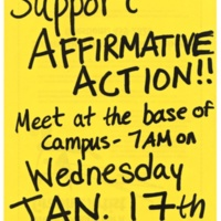 Support Affirmative Action Flyer. 1996
