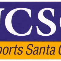 """UCSC Supports Santa Cruz"" bumper sticker. Circa 1990s."