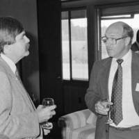 Monterey Bay National Marine Sanctuary: celebration of the designation, with Michael E. Field (researcher at the Institute of Marine Sciences) and unidentified man