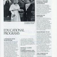 program excerpt 1986 Little Eyases