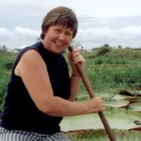 Langenheim on a UCSC teaching field trip to the Amazon rainforest