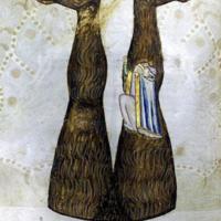 Dante and Virgil Climbing Lucifer's Leg