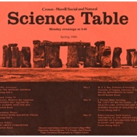 Science Table Flyer. 1980.