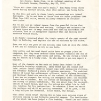 Statement by Chancellor Dean McHenry to Informal Meeting of UCSC Academic Senate, May 22, 1969
