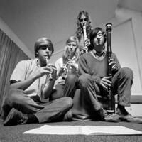 Baroque woodwind quartet, with unidentified student musicians. 1970.