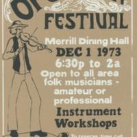 Open Folk Festival poster, 1973
