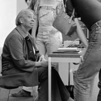 Septima Poinsette Clark, educator and civil rights activist, with students