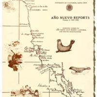 Cover of Año Nuevo Reports, Scientific Studies in Año Nuevo Reserve. Vol. 2. 1967-68