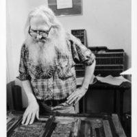 William Everson, Lime Kiln Press, McHenry Library. Circa 1970s.