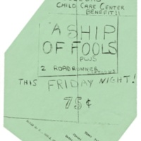"""A Ship of Fools"" event flyer, Benefit for the Soledad Brothers. 1970."