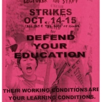Defend your Education. Clerical Strike flyer. Circa 2000s.