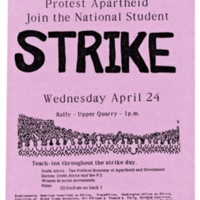 Anti-apartheid Protest. Flyer. 1985.