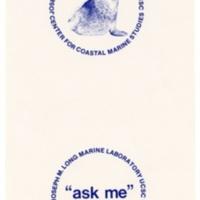 Long Marine Laboratory/Center for Coastal Marine Studies elephant seal illustration. Circa 1980s