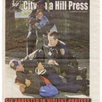 Issue of City on a Hill Press, Tree-Sitters Protest Biomedical Building. November 2007.