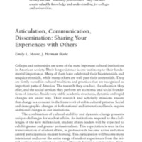 Articulation, Communication,<br />